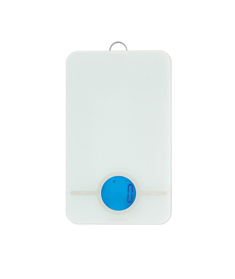Онлайн каталог PROMENU: Весы кухонные цифровые с петлей Brabantia, 26,5х15,2х2 см, от 1 до 5 кг, белый                               122668