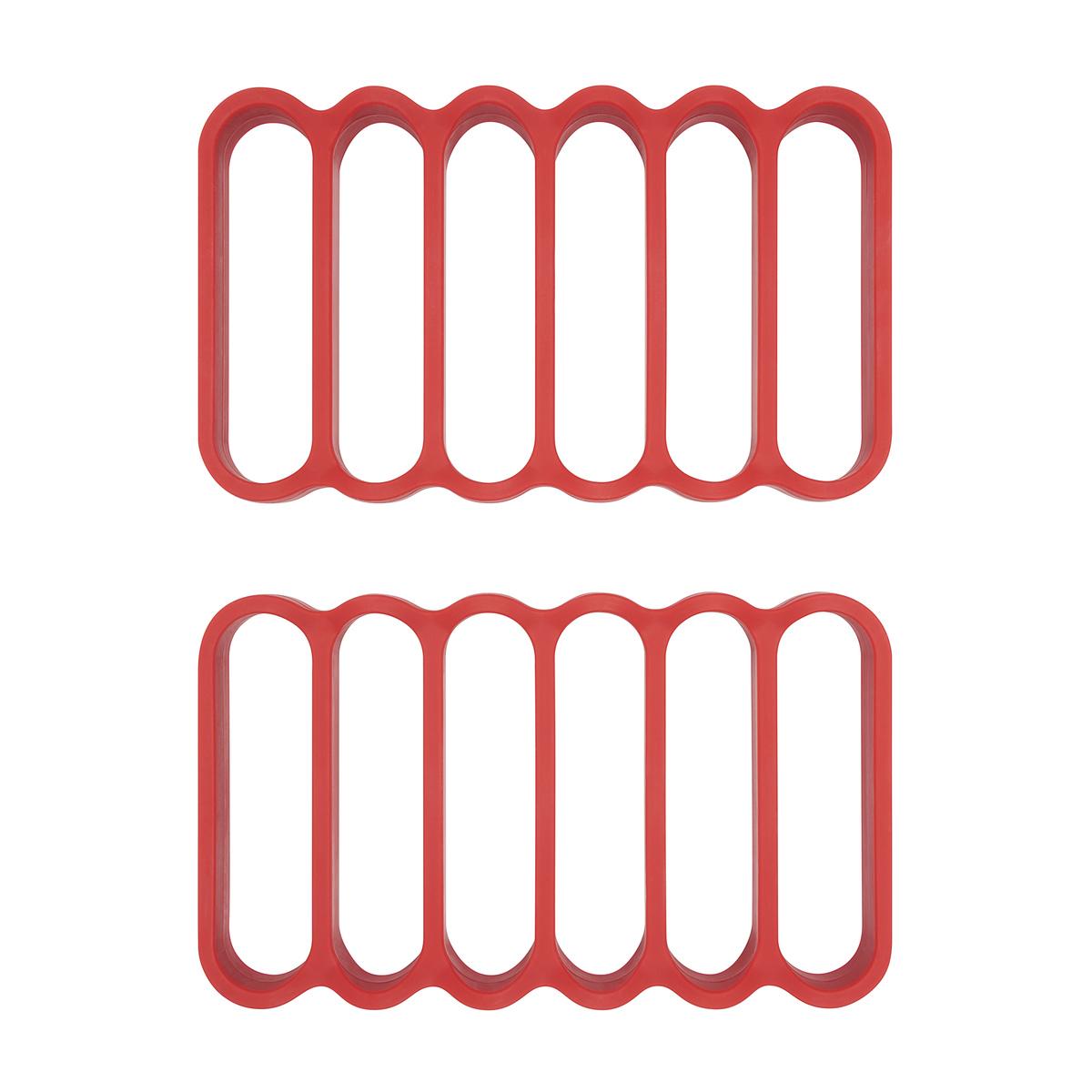 Онлайн каталог PROMENU: Жаровни силиконовые OXO COOKING UTENSILS, красный, 2 штуки                                   11210100
